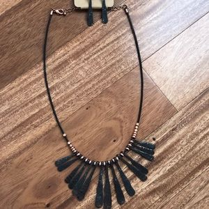 Statement necklace with matching earrings